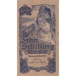 Autriche - Pick 114_1- 10 shilling - 29/05/1945 - Etat : TTB