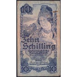 Autriche - Pick 114_2- 10 shilling - 1945 - Etat : TB à TB+