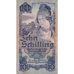 Autriche - Pick 99b- 10 shilling - 02/01/1933 - Etat : TTB