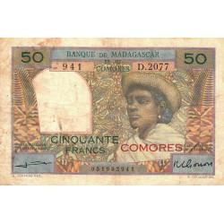 Comores - Pick 2b - 50 francs - 1963 - Etat : TB-