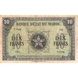 Maroc - Pick 25_3 - 10 francs - 01/03/1944 - Etat : TB