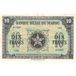 Maroc - Pick 25_3 - 10 francs - 01/03/1944 - Etat : TTB