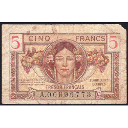 VF 29-01 - 5 francs - Trésor français - 1947 - Etat : B+