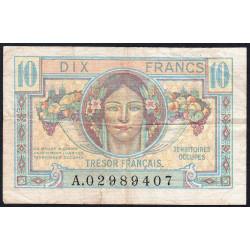 VF 30-1 - 10 francs - Trésor français - 1947 - Etat : TTB-