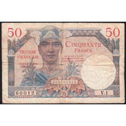 VF 31-01 - 50 francs - Trésor français - 1947 - Etat : TB-