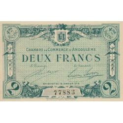 Angoulême - Pirot 9-31 - 2 francs - 4ème série - 15/01/1915 - Etat : SPL