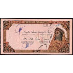 Maroc - Chèque de voyage - 10'000 francs - 21/071958 - Casablanca - Etat : TTB+