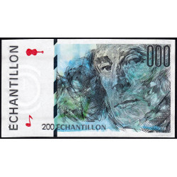 Ravel - Format 200 francs EIFFEL - DIS-05-A-03 - Etat : SPL