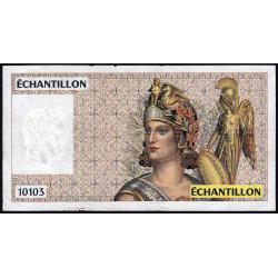 Athena à droite - Format 100 francs DELACROIX - DIS-04-A-03 - Etat : TB+