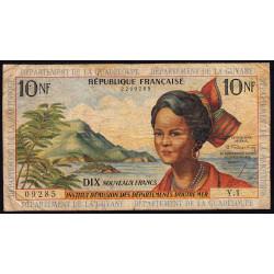 Antilles Françaises - Pick 5 - 10 nouveaux francs - Série Y.1 - 1962 - Etat : TB-