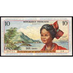 Antilles Françaises - Pick 8a - 10 francs - Série J.4 - 1964 - Etat : TTB