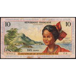 Antilles Françaises - Pick 8b - 10 francs - Série P.6 - 1966 - Etat : TB-