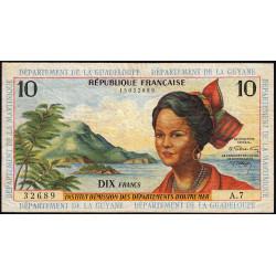 Antilles Françaises - Pick 8b - 10 francs - Série A.7 - 1966 - Etat : TB à TB+