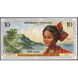 Antilles Françaises - Pick 8b - 10 francs - 1966 - Etat : SPL+ à pr.NEUF