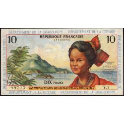 Antilles Françaises - Pick 8b - 10 francs - Série Y.7 - 1966 - Etat : TTB+