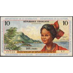 Antilles Françaises - Pick 8b - 10 francs - 1966 - Etat : TTB+