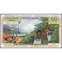 Antilles Françaises - Pick 9b - 50 francs - Série Y.2 - 1966 - Etat : pr.NEUF