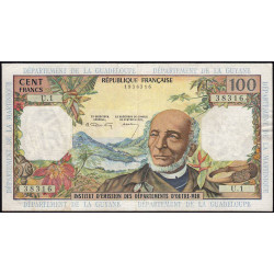 Antilles Françaises - Pick 10a - 100 francs - Série U.1 - 1964 - Etat : TTB à TTB+