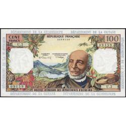 Antilles Françaises - Pick 10b - 100 francs - Série U.2 - 1966 - Etat : SPL à SPL+