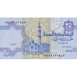 Egypte - Pick 57d - 25 piastres - 22/01/2002 - Etat : NEUF