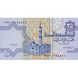 Egypte - Pick 57d - 25 piastres - 21/01/2003 - Etat : NEUF
