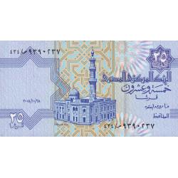 Egypte - Pick 57h - 25 piastres - 28/10/2008 - Etat : NEUF