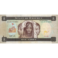 Erythrée - Pick 1 - 1 nakfa - Série AC - 24/05/1997 - Etat : TB