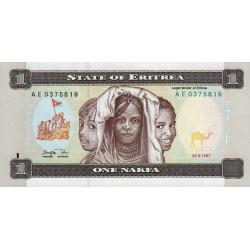 Erythrée - Pick 1 - 1 nakfa - Série AE - 24/05/1997 - Etat : NEUF