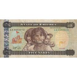 Erythrée - Pick 2 - 5 nakfa - Série AA - 24/05/1997 - Etat : TB-