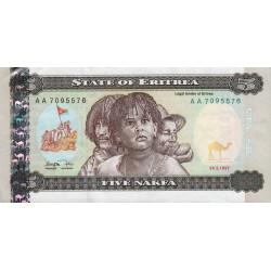 Erythrée - Pick 2 - 5 nakfa - Série AA - 24/05/1997 - Etat : TTB