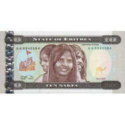 Erythrée - Pick 3 - 10 nakfa - 24/05/1997 - Etat : NEUF