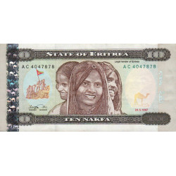 Erythrée - Pick 3 - 10 nakfa - Série AC - 24/05/1997 - Etat : TTB