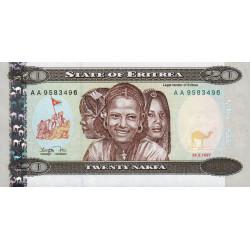 Erythrée - Pick 4 - 20 nakfa - 24/05/1997 - Etat : NEUF