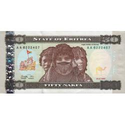 Erythrée - Pick 5 - 50 nakfa - 24/05/1997 - Etat : SUP-