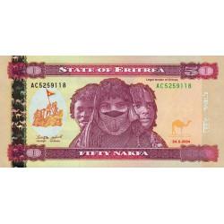 Erythrée - Pick 7 - 50 nakfa - Série AC - 24/05/2004 - Etat : NEUF