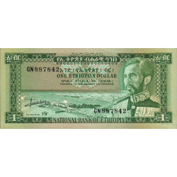 Ethiopie - Pick 25 - 1 ethiopian dollar - Série GN - 1966 - Etat : SUP+ à SPL