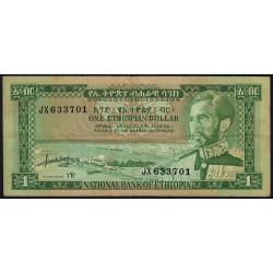 Ethiopie - Pick 25 - 1 ethiopian dollar - Série JX - 1966 - Etat : TTB