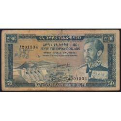 Ethiopie - Pick 28 - 50 ethiopian dollars - Série C - 1966 - Etat : TB-