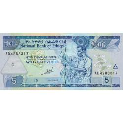 Ethiopie - Pick 47a - 5 birr - 1997 - Etat : NEUF