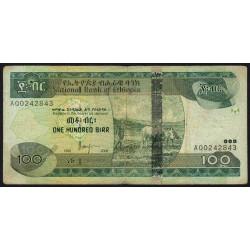 Ethiopie - Pick 52c - 100 birr - Série AQ - 2006 - Etat : TB+
