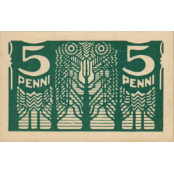 Estonie - Pick 39 - 5 penni - 1920 - Etat : NEUF