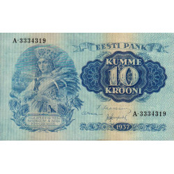 Estonie - Pick 67 - 10 krooni - 1937 - Etat : NEUF