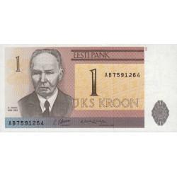Estonie - Pick 69 - 1 kroon - 1992 - Etat : NEUF