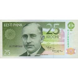 Estonie - Pick 73a - 25 krooni - 1991 - Etat : NEUF
