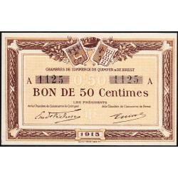 Quimper et Brest - Pirot 104-01-A - 50 centimes - Etat : NEUF