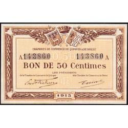Quimper et Brest - Pirot 104-1 - 50 centimes - Série A - 1915 - Etat : NEUF