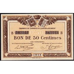Quimper et Brest - Pirot 104-04-B - 50 centimes - Etat : SPL