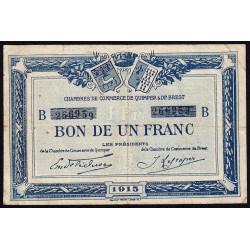 Quimper et Brest - Pirot 104-5 - 1 franc - Série B - 1915 - Etat : TB