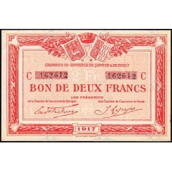 Quimper et Brest - Pirot 104-9 - 2 francs - Série C - 1917 - Etat : SUP