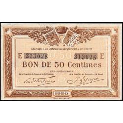 Quimper et Brest - Pirot 104-16 - 50 centimes - Série E - 1920 - Etat : SUP